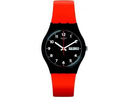 Swatch Red Grin GB754  + prodloužená záruka 5 let + 5 let na výměnu baterie zdarma