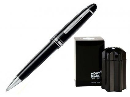 Kuličkové pero Montblanc Meisterstuck 07569-P161  + dárkový poukaz v hodnotě 1000Kč + toaletní voda Montblanc v hodnotě 520Kč
