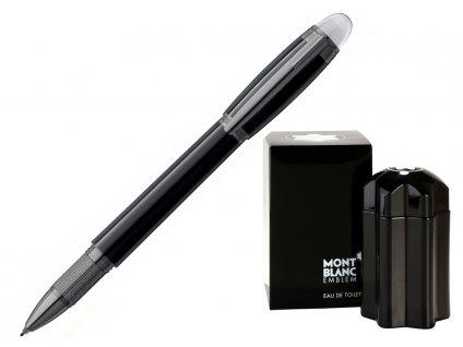 Fineliner Montblanc StarWalker Midnight Black 105656  + dárkový poukaz v hodnotě 500Kč + toaletní voda Montblanc v hodnotě 520Kč