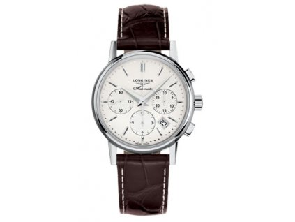 Longines Column-Wheel chronograph L2.733.4.72.2  + prodloužená záruka 5 let + pojištení na rok + natahovač na hodinky ZDARMA
