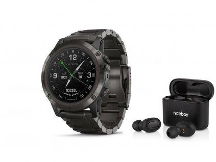 Garmin D2 Delta PX 010-01989-31  + možnost výměny do 90 dní + bezdrátová sluchátka Niceboy HIVE Podsie 2021 v hodnotě 999 Kč