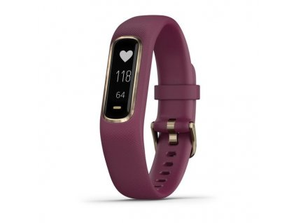 Garmin VivoSmart4 Optic Merlot/Rose Gold (velikost S/M)