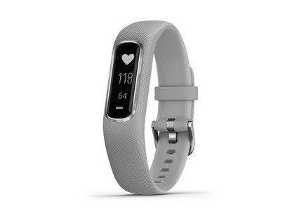 Garmin VivoSmart4  Gray/Silver (velikost S/M)  + možnost výměny do 90 dní
