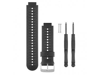 Garmin řemínek pro Forerunner 235 (230/630), silikonový, Black and Gray