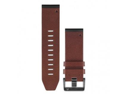 Garmin řemínek pro fenix5X - QuickFit 26, kožený, hnědý