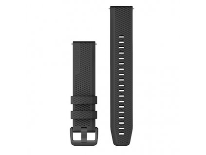 Garmin řemínek Quick Release 20mm, silikonový černý, tmavá přezka