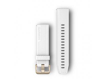 Garmin řemínek Quick Release 20mm, silikonový bílý, zlatá přezka