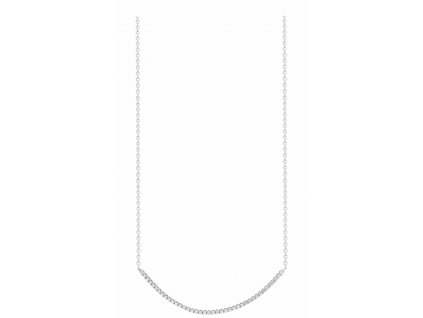 023356 Metric White Crystal Silver Necklace 47 2