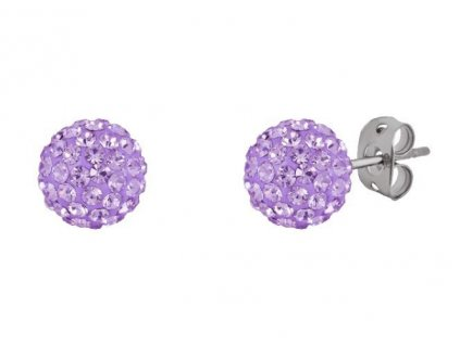 Tresor Paris 8mm Lilac Medium BonBon Stud Earrings 166638 p