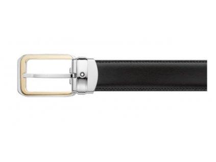 montblanc reversible leather belt black brown 114389 2