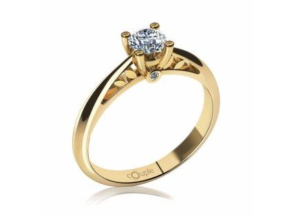 Zlatý dámský prsten 6814023