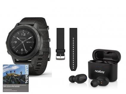Garmin MARQ Commander 010-02006-10 Premium + náhradní řemínek  + možnost výměny do 90 dní + bezdrátová sluchátka Niceboy HIVE drops v hodnotě 1490Kč