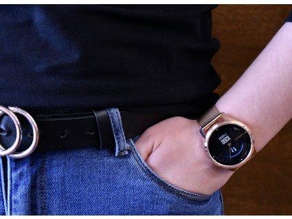 Garmin vívomove3 Luxe, 18K RoseGold/Milanese Band 010-02241-24 Premium  + možnost výměny do 90 dní + sluchátka Niceboy HIVE E2 v hodnotě 1190 Kč