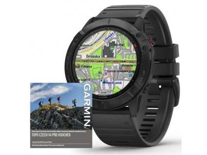 Garmin fenix6X PRO Glass, Black/Black Band (MAP/Music)  + možnost výměny do 90 dní