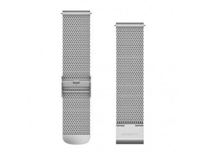 Garmin řemínek Quick Release 20mm, kovový stříbrný, milánský tah