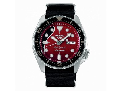 seiko 5 sports brian may limited edition srpe83k1 red special