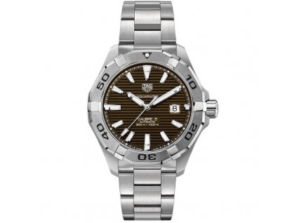 tag heuer aquaracer calibre 5 brown dial 43mm way2018 ba0927