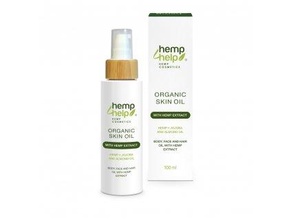 Hemp For Help bio konopný tělový a vlasový olej