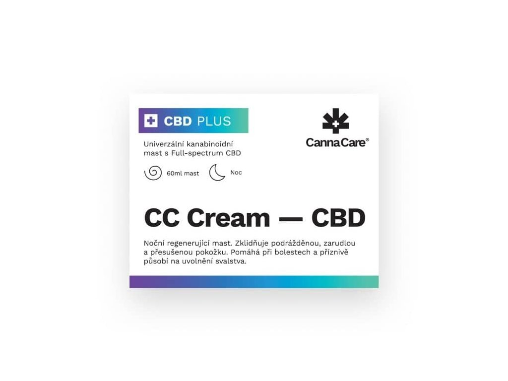 CBD konopná mast (60 ml) CannaCare