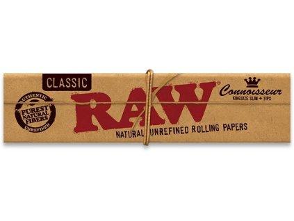 RAW papírky Connoisseur Slim 32 ks s filtrem