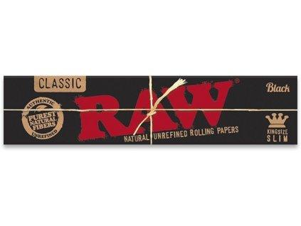 RAW papírky Connoisseur Slim Black 32 ks s filtrem