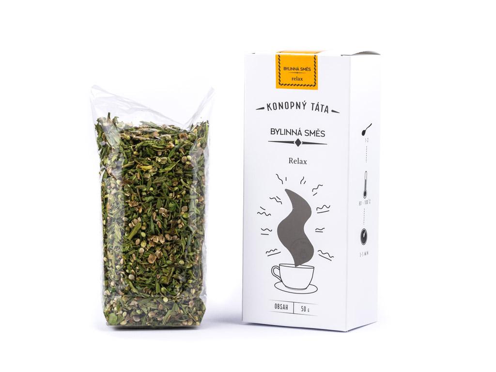 Levně Konopný Táta Konopný čaj Relax 50 g