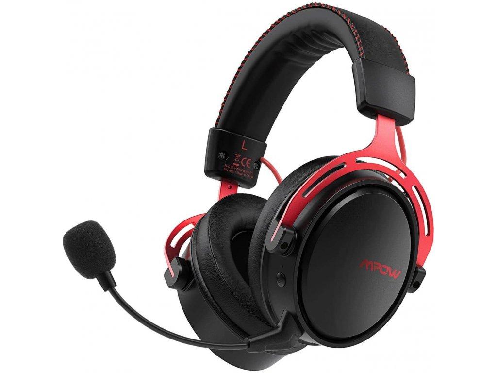 MPOW Air 2.4G - herní sluchátka, červeno-černá
