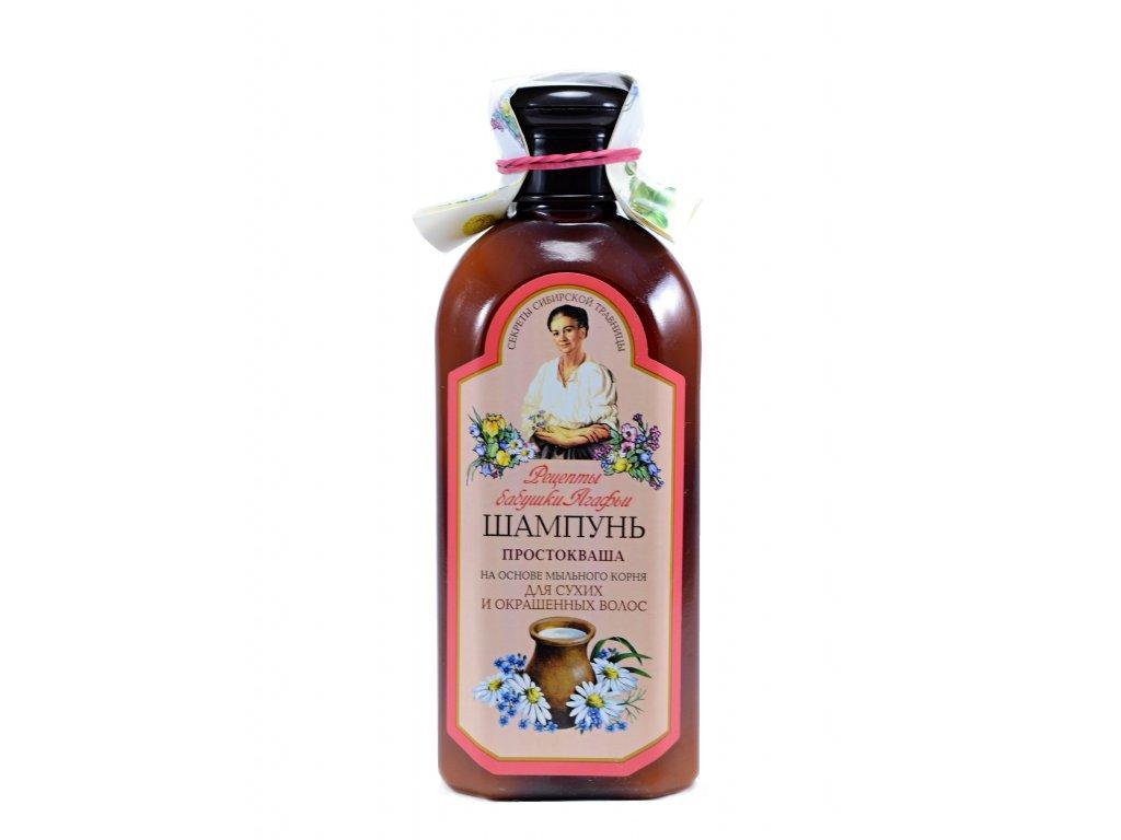 Babička Agafia – Šampon kyselé mléko pro suché a barvené vlasy - 350 ml