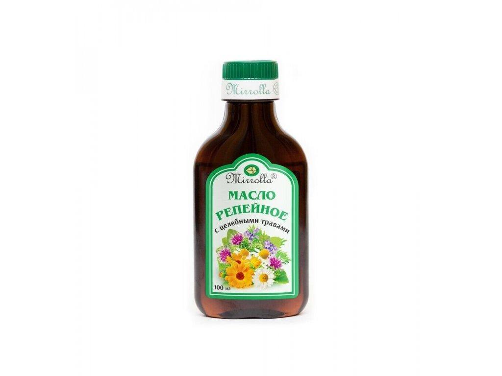 Lopuchový olej s léčivými bylinkami - Mirrolla - 100 ml