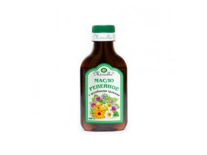 Mirrolla lopuchový olej s léčivými bylinkami - 100 ml