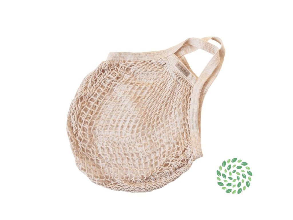 BoWeevil Bevásárló táska bio pamutból, hálóból (Farba lilac)