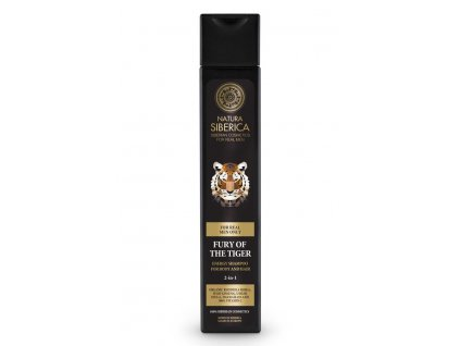 """""""Tiger"""" energizáló sampon 2 az 1-ben test és haj számára - Natura Siberica - 250 ml"""