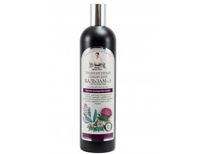 Hagyományos szibériai hajbalzsam bojtorján-propoliszból - hajhullás ellen - Agafia Nagymama - 550 ml