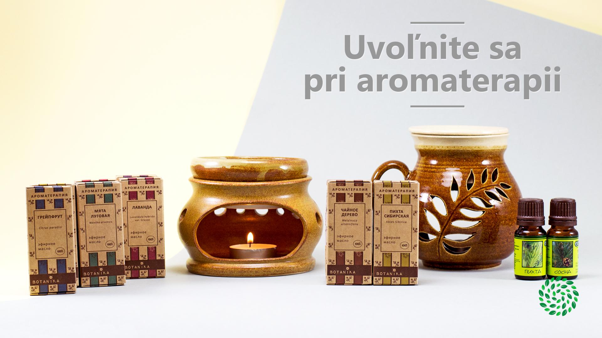Uvoľnite sa pri aromaterapii