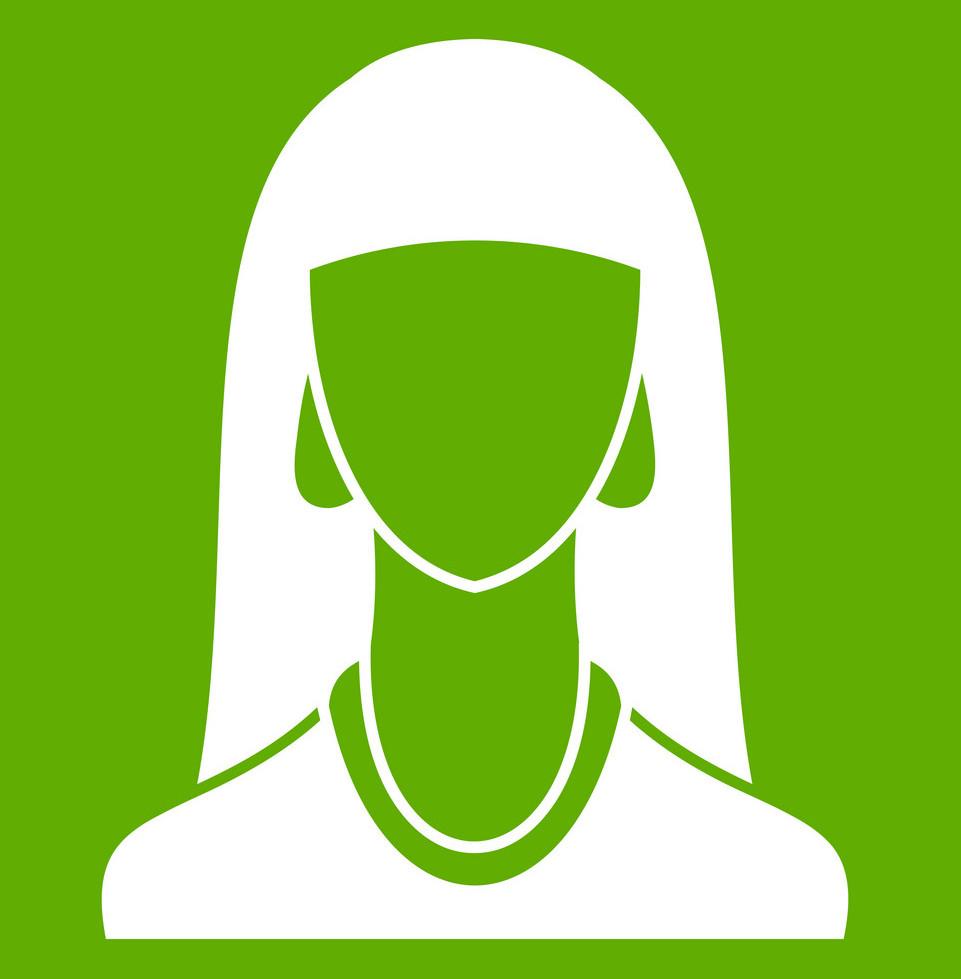 woman-icon-green-vector-17596710