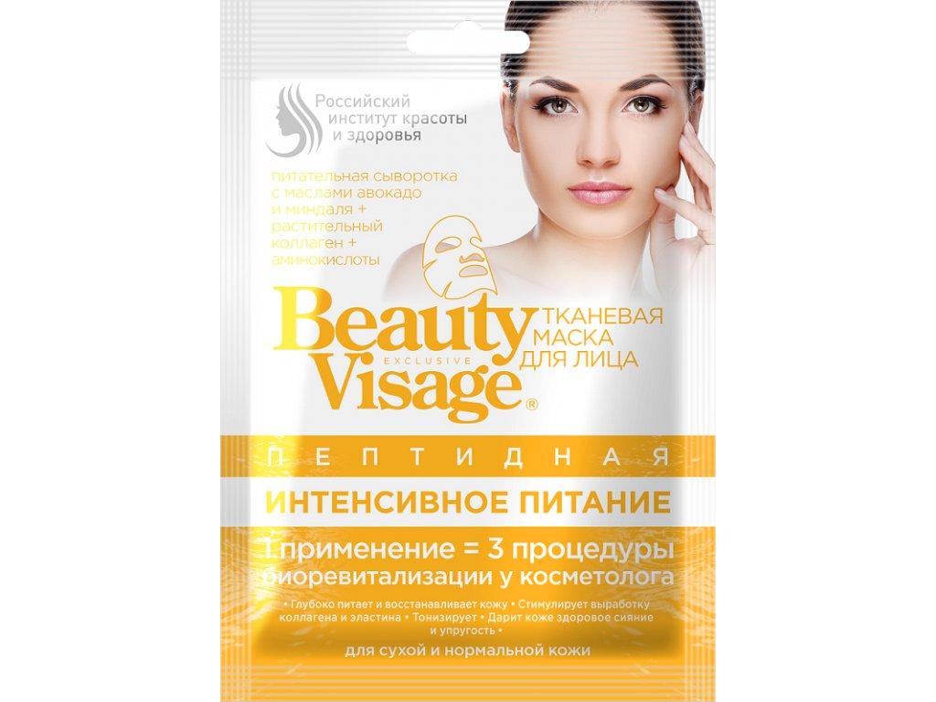 """Peptidová látková pleťová maska """"Intenzívna Výživa"""" - Fitokosmetik - 25 ml"""