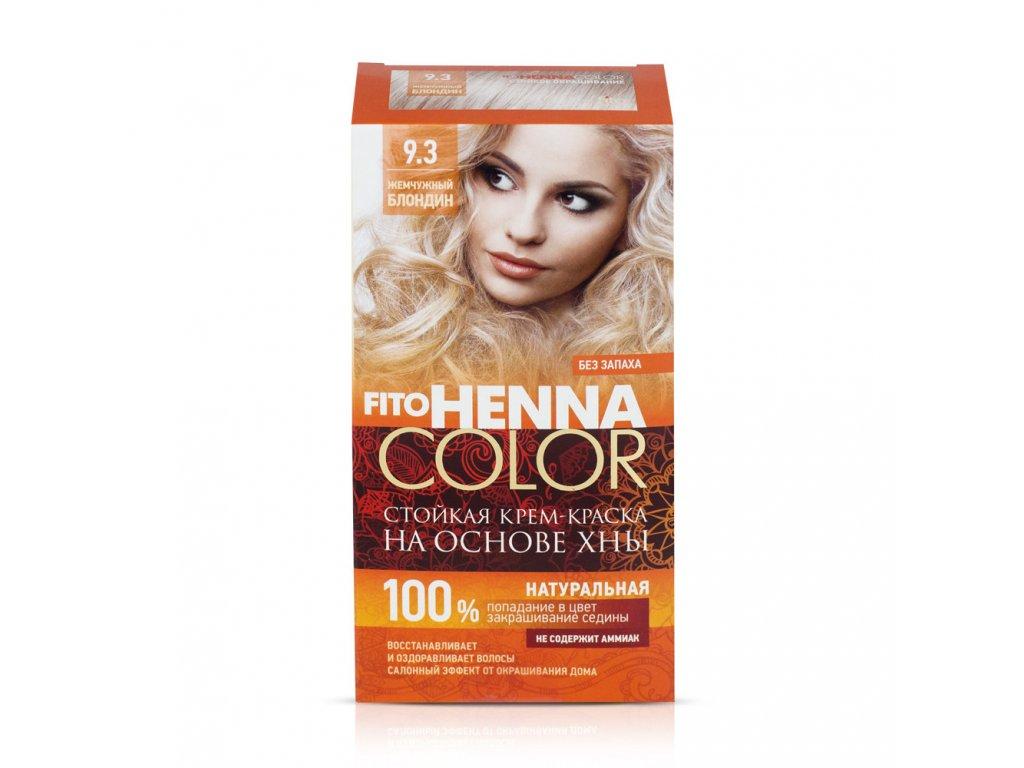 Fitokosmetik Krémová farba na vlasy Henna color  9.3  PERLEŤOVÁ  BLOND 115ml