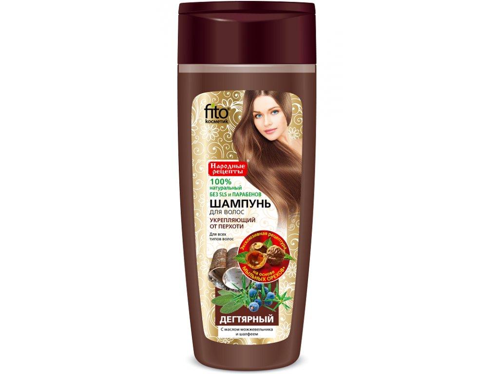 Dechtový šampón  s brusnicovým olejom proti lupinám - Fitokosmetik - 270 ml