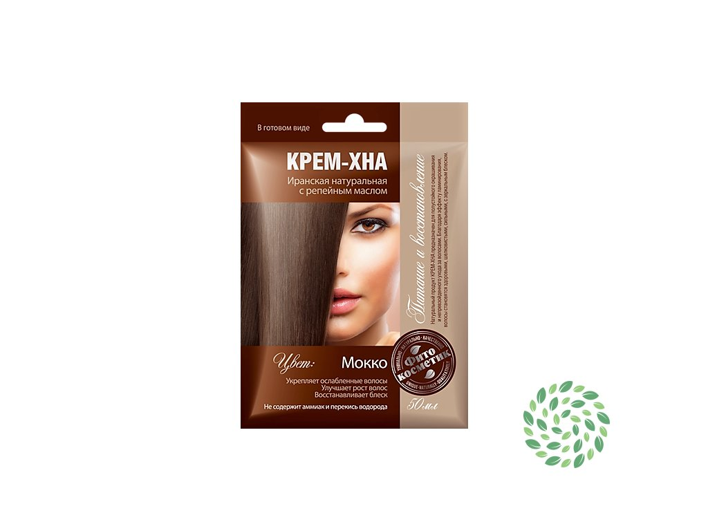 Fitokosmetik Krémová henna na vlasy s lopúchovým olejom odtieň MOKKA 50 ml