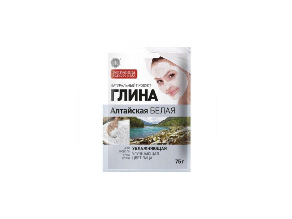 Vyživujúca maska na tvár z altajského bieleho ílu - Fitokosmetik - 75 g