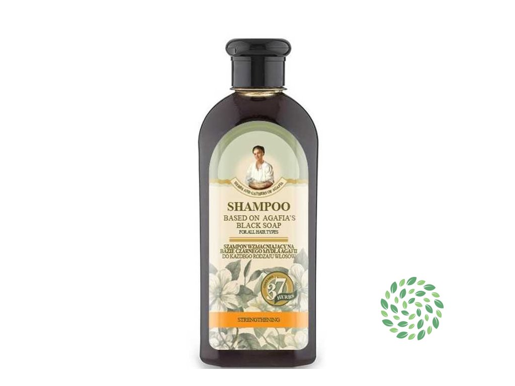 Spevňujúci šampón na báze čierneho mydla - Babička Agafa - 350 ml