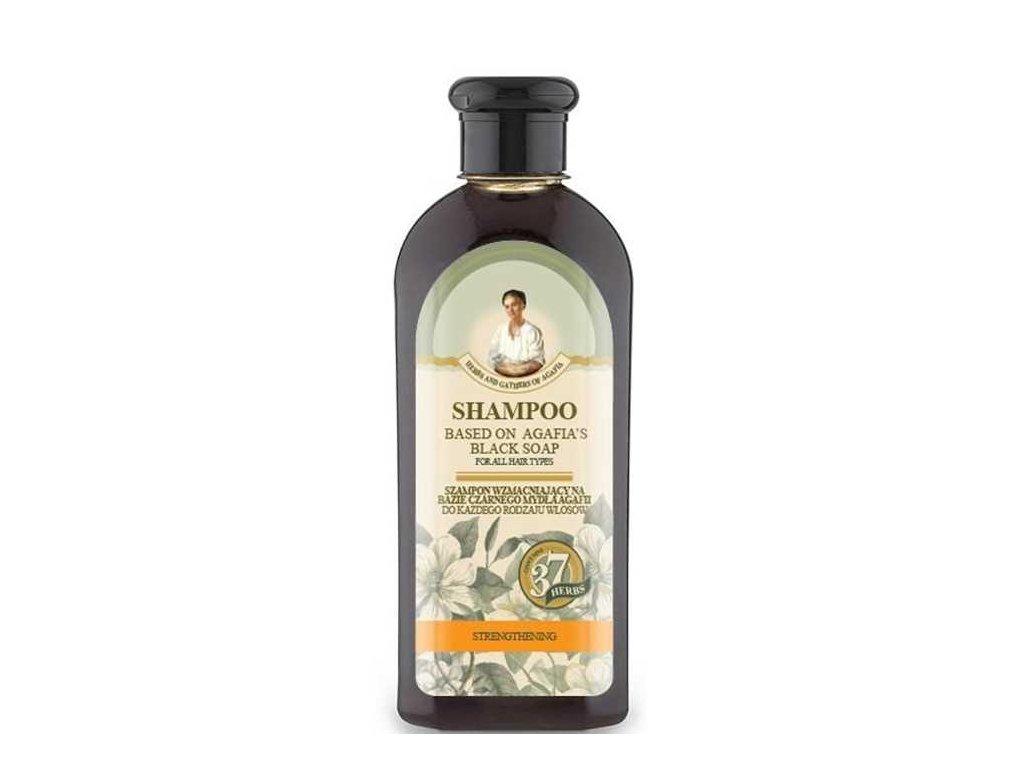 Spevňujúci šampón na báze čierneho mydla - Babička Agafia - 350 ml