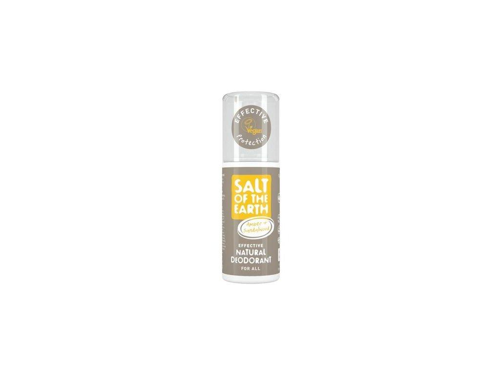 Prírodný kryštálový deodorant v spreji - jantár, santalové drevo - Salt of the Earth - 100 ml
