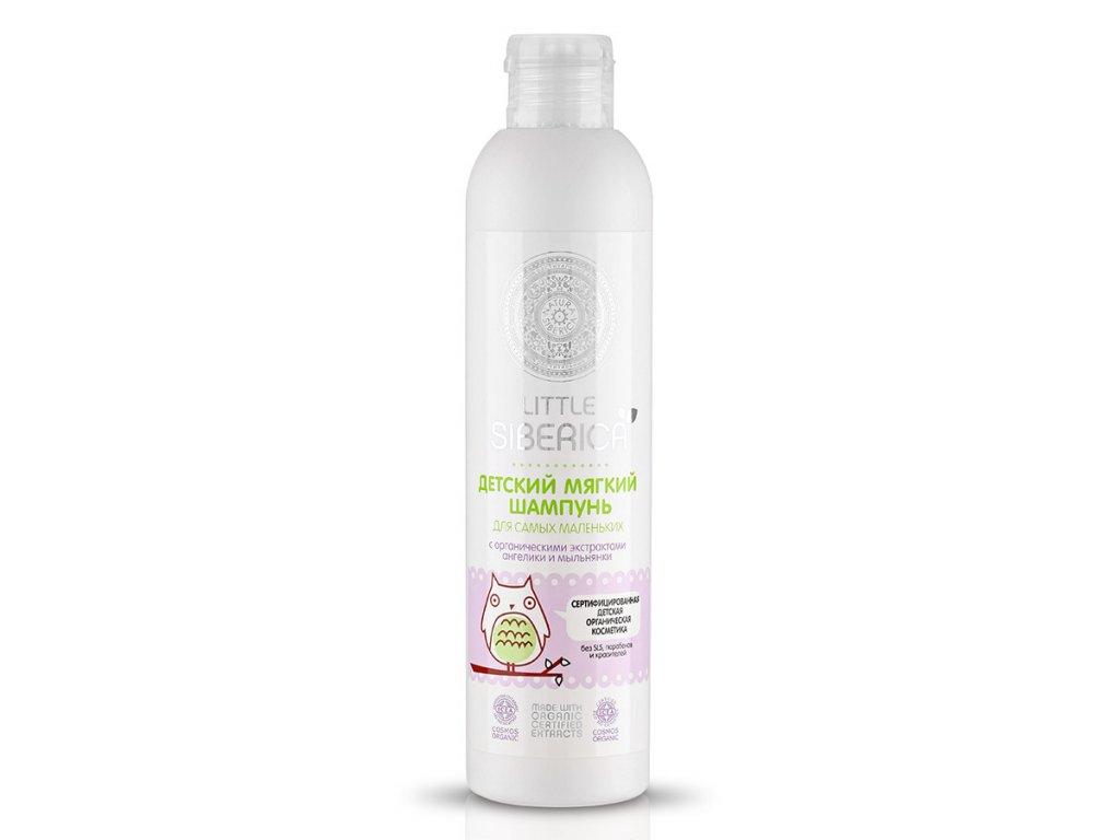 Jemný detský šampón pre novorodencov s prírodnými výťažkam z angeliky a mydlice - Little Siberica - 250ml
