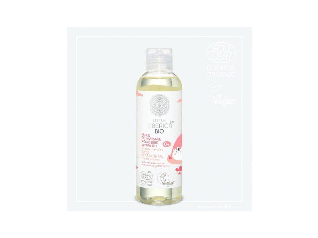 Detský masážny olej s prírodným šípkovým a pupalkovým olejom - Little Siberica- 200ml