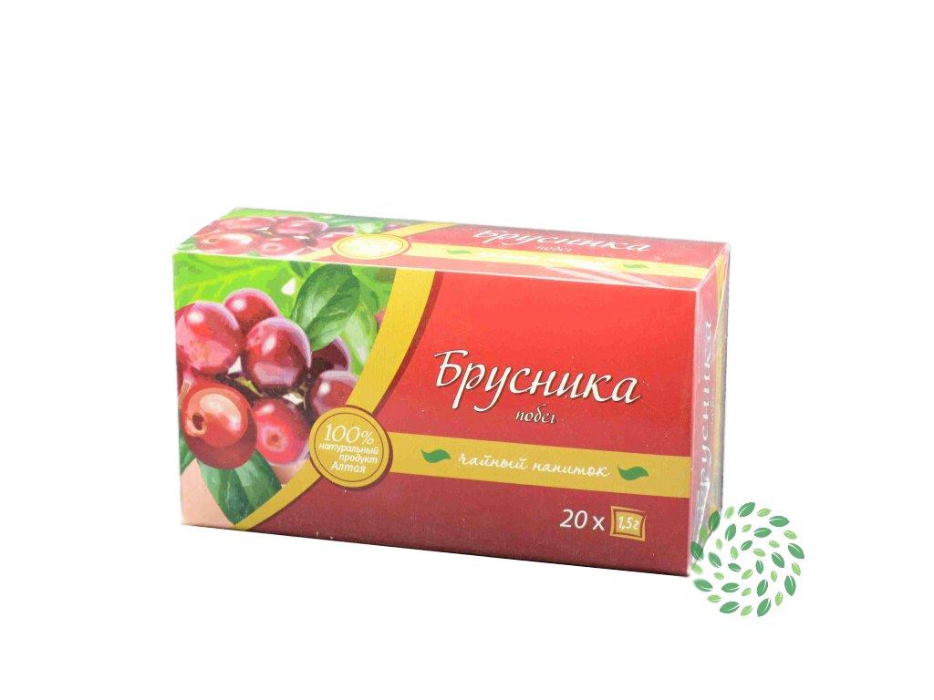 Brusnicový čaj porciovaný- Firma Kima - 20x1,5g