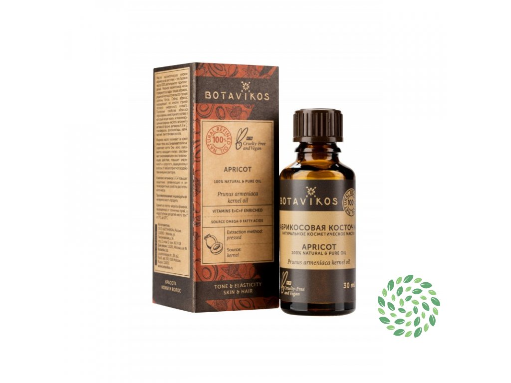 100% prírodný kozmetický olej z marhuľových kôstok - Botavikos