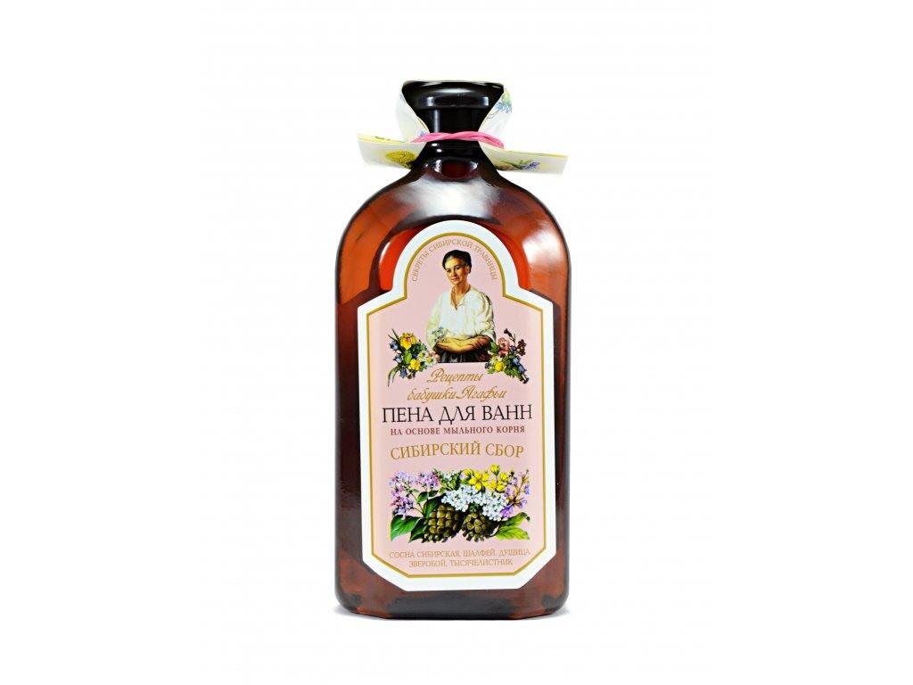 Babička Agafa - pena do kúpeľa, mydlica a borovica- 500 ml