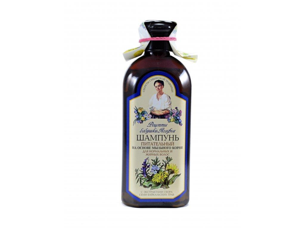 Vyživujúci šampón pre normálne a mastné vlasy - Babička Agafia - 350 ml