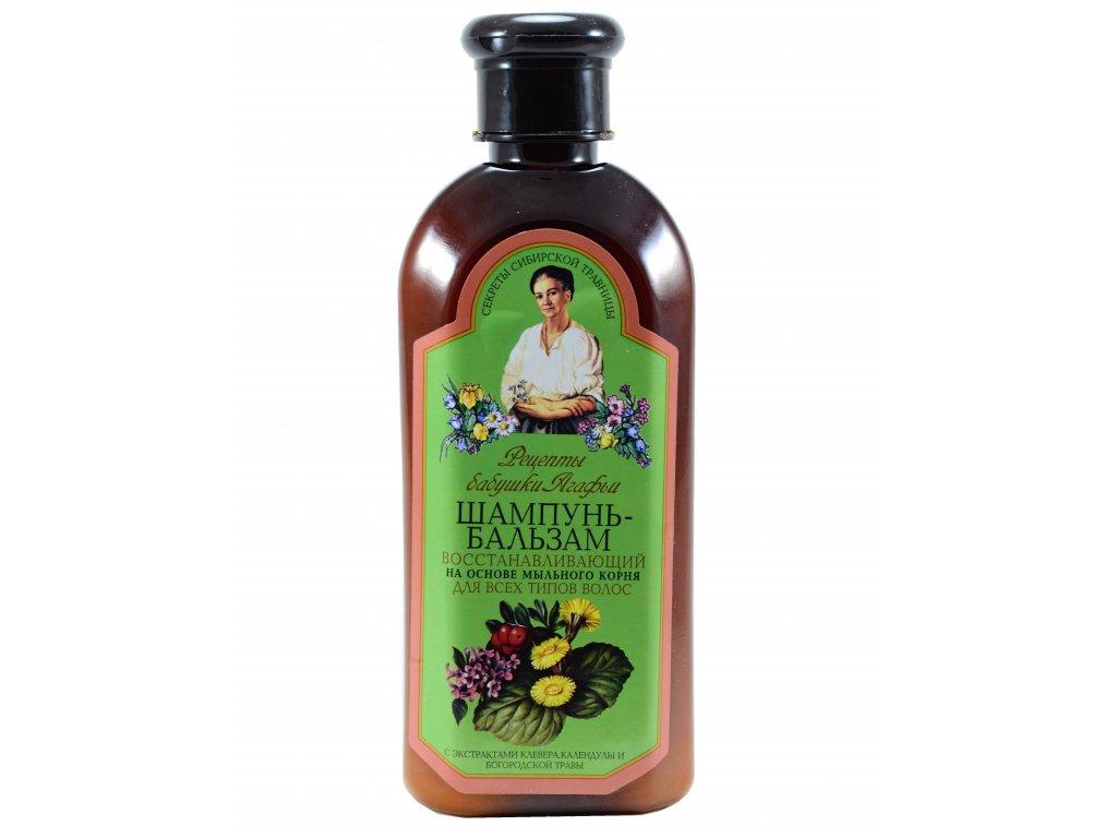 Babička Agafa- Regeneračný šampón- balzam pre všetky typy vlasov z mydlice lekárskej- 350ml